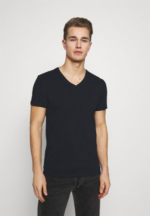 LINCOLN VNECK - Basic T-shirt - navy