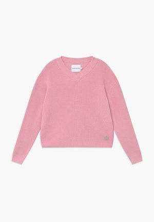 V NECK - Jumper - pink
