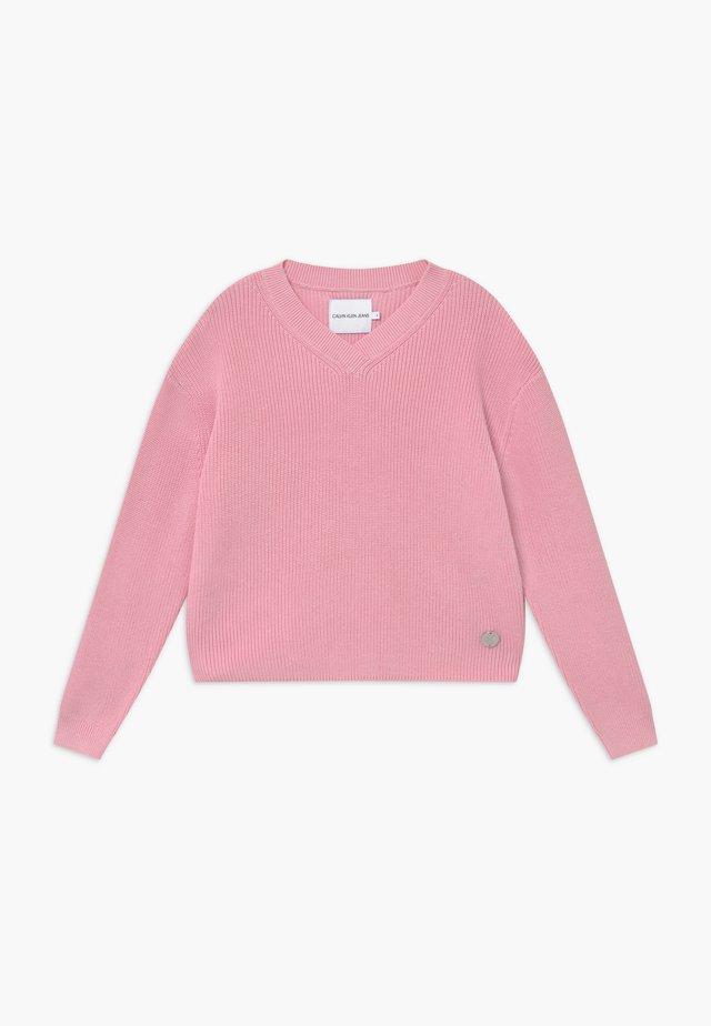 V NECK - Neule - pink