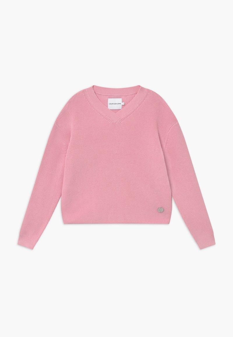 Calvin Klein Jeans - V NECK - Trui - pink