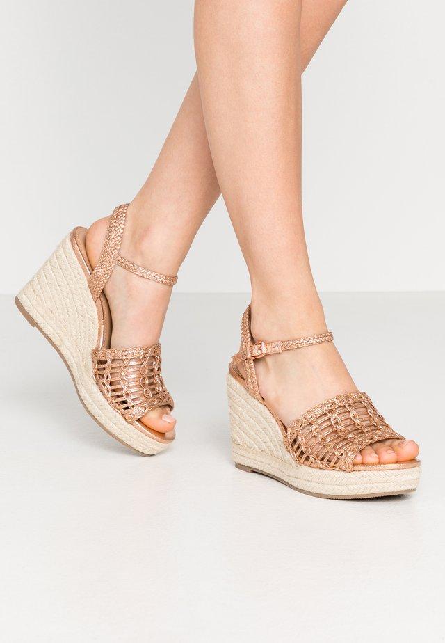 SWIRLY - Sandaler med høye hæler - rose metallic