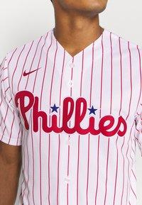 Nike Performance - MLB PHILADELPHIA PHILLIES OFFICIAL REPLICA HOME - Club wear - white/scarlet - 3