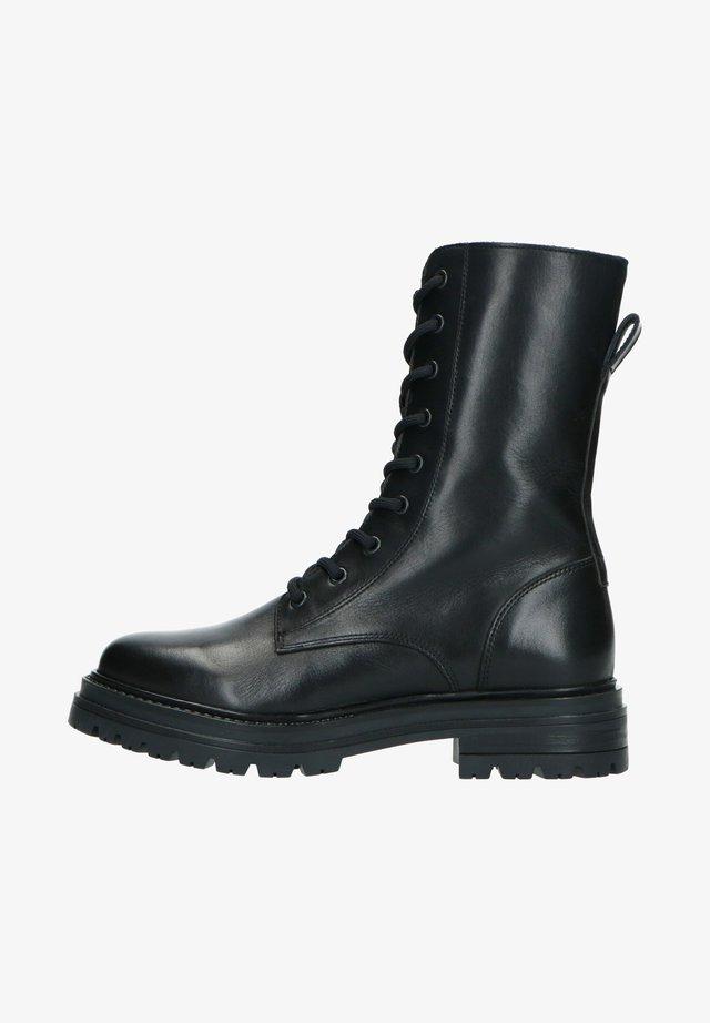 MIT SCHNÜRUNG - Lace-up ankle boots - schwarz