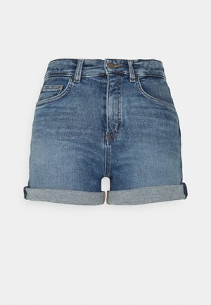 Denim shorts - treated mid blue