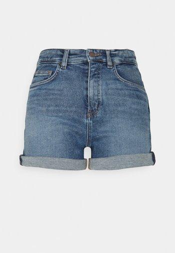 Denim shorts - treated mid blue