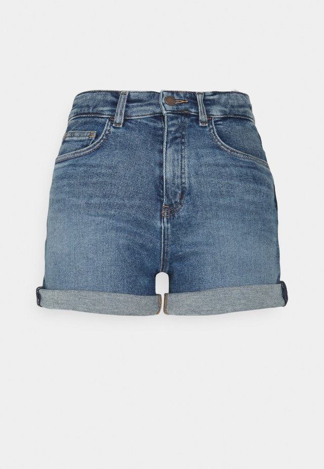 Shorts di jeans - treated mid blue