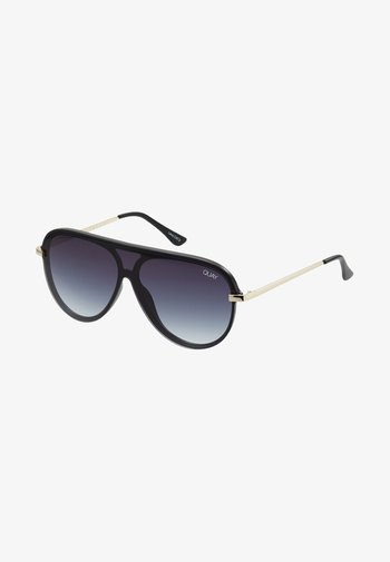 EMPIRE - Sunglasses - matte black/gold-coloured/smoke fade
