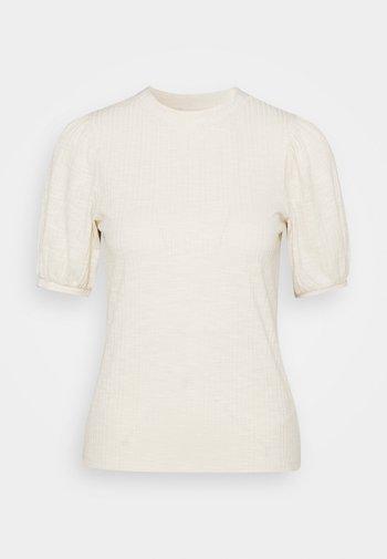 BALLOON SLEEVE TEE - Basic T-shirt - soft creme beige