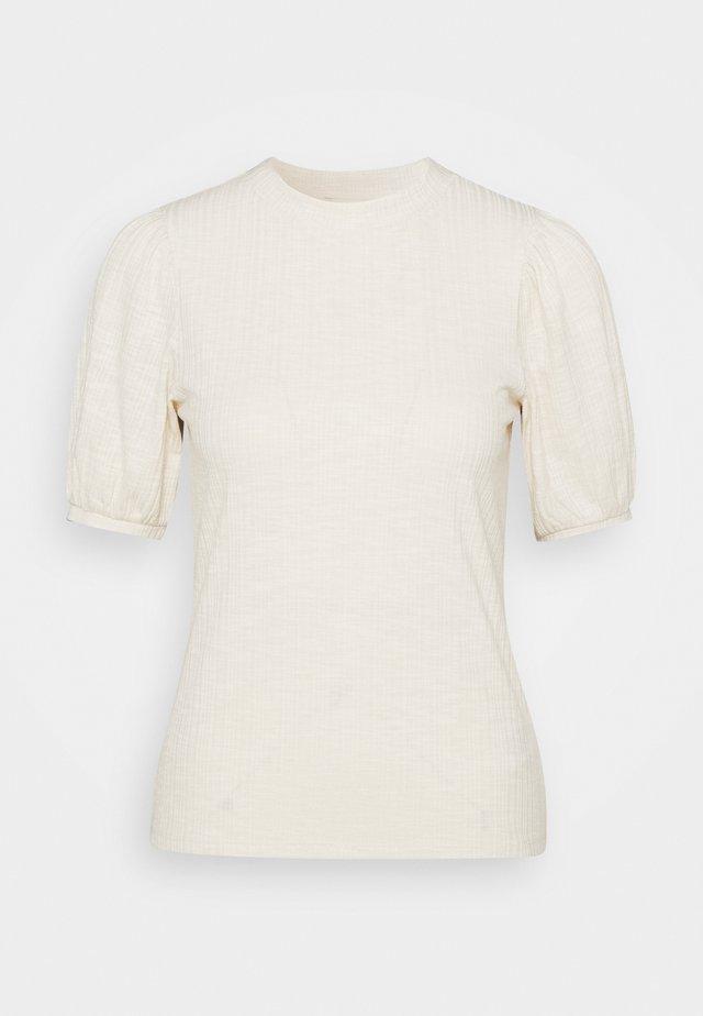 BALLOON SLEEVE TEE - T-shirt basic - soft creme beige