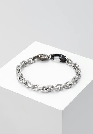 STEEL - Pulsera - grey/black/silver-coloured