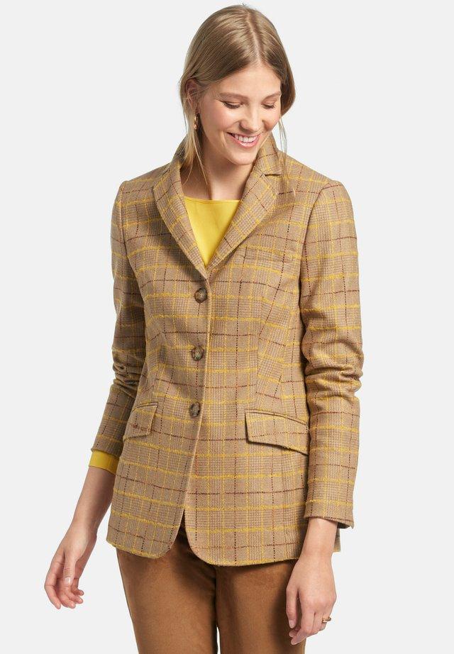 Halflange jas - beige/multicolor