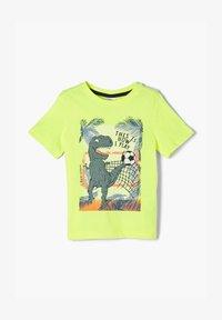 s.Oliver - Print T-shirt - neon yellow - 0
