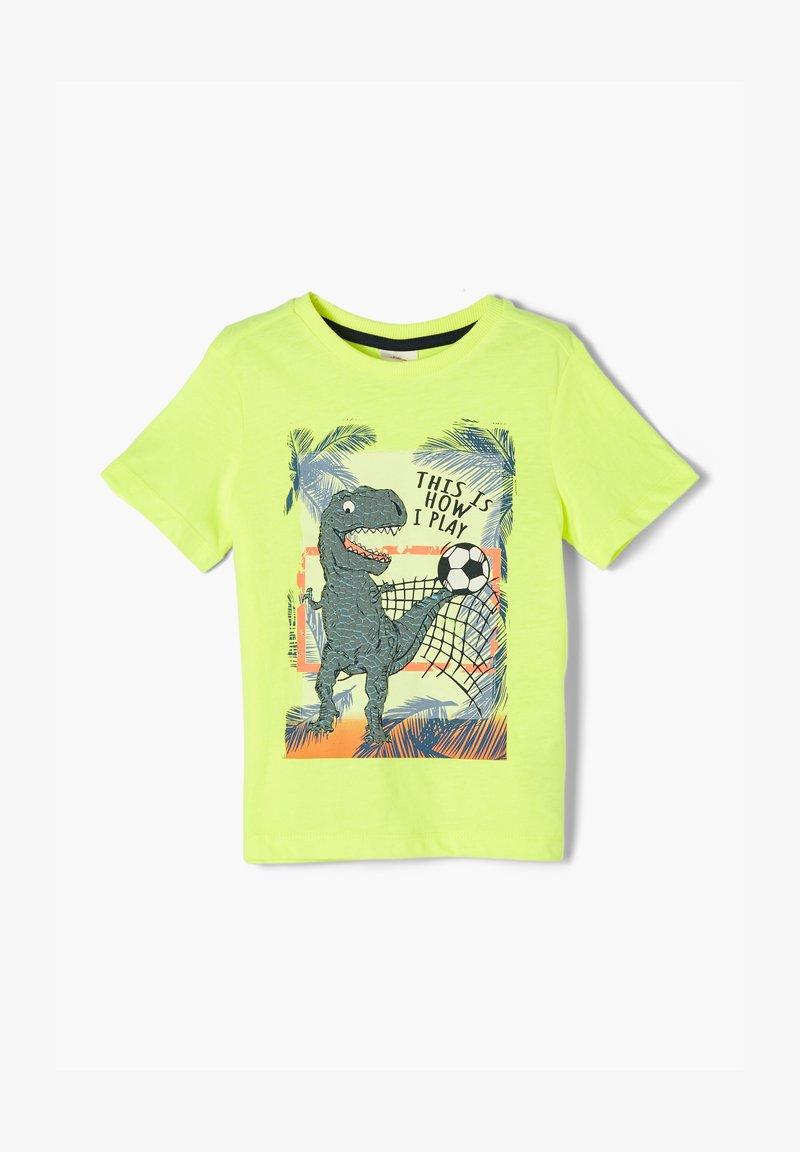 s.Oliver - Print T-shirt - neon yellow