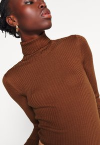 Selected Femme Tall - SLFCOSTA ROLLNECK TALL - Jumper - smoked - 6