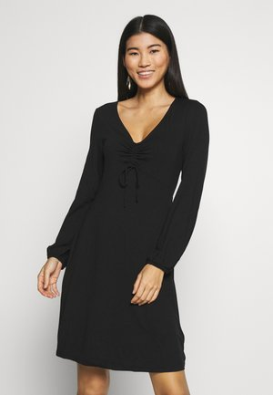 FIT AND FLARE DRESS - Žerzejové šaty - black