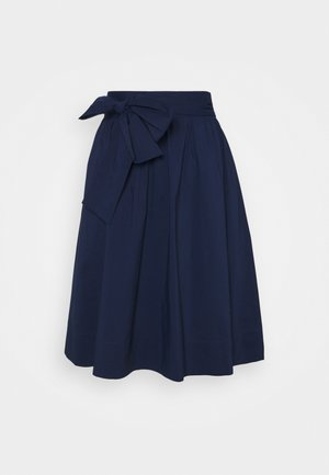 BENITA SKIRT - A-Linien-Rock - navy blue