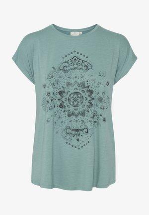 Print T-shirt - trellis