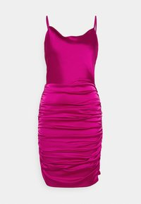 Missguided - COWL NECK STRAPPY BODYCON DRESS - Cocktail dress / Party dress - purple - 0