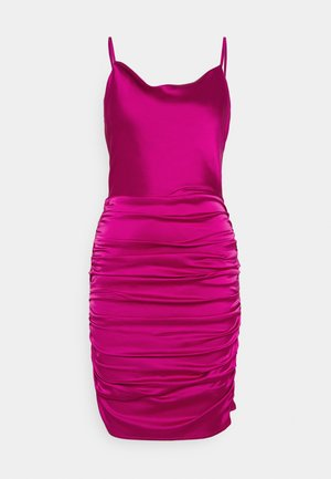 COWL NECK STRAPPY BODYCON DRESS - Cocktail dress / Party dress - purple