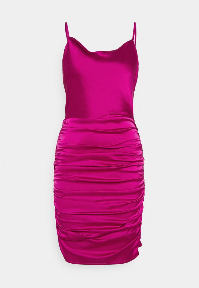 COWL NECK STRAPPY BODYCON DRESS - Cocktailklänning - purple