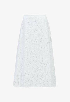 VAJOUR - A-linjainen hame - white