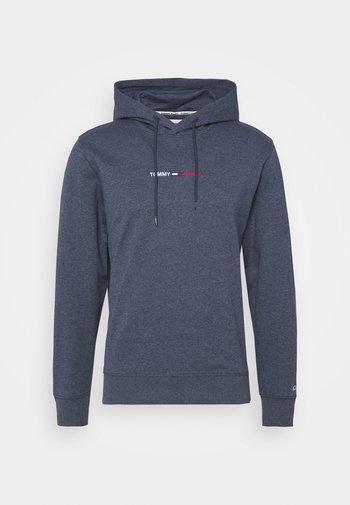 STRAIGHT LOGO HOODIE - Sweatshirt - blue