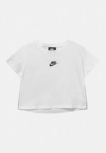 REPEAT CROP - Print T-shirt - white