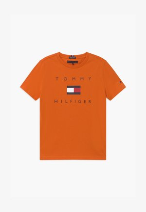 LOGO TEE - Print T-shirt - orange