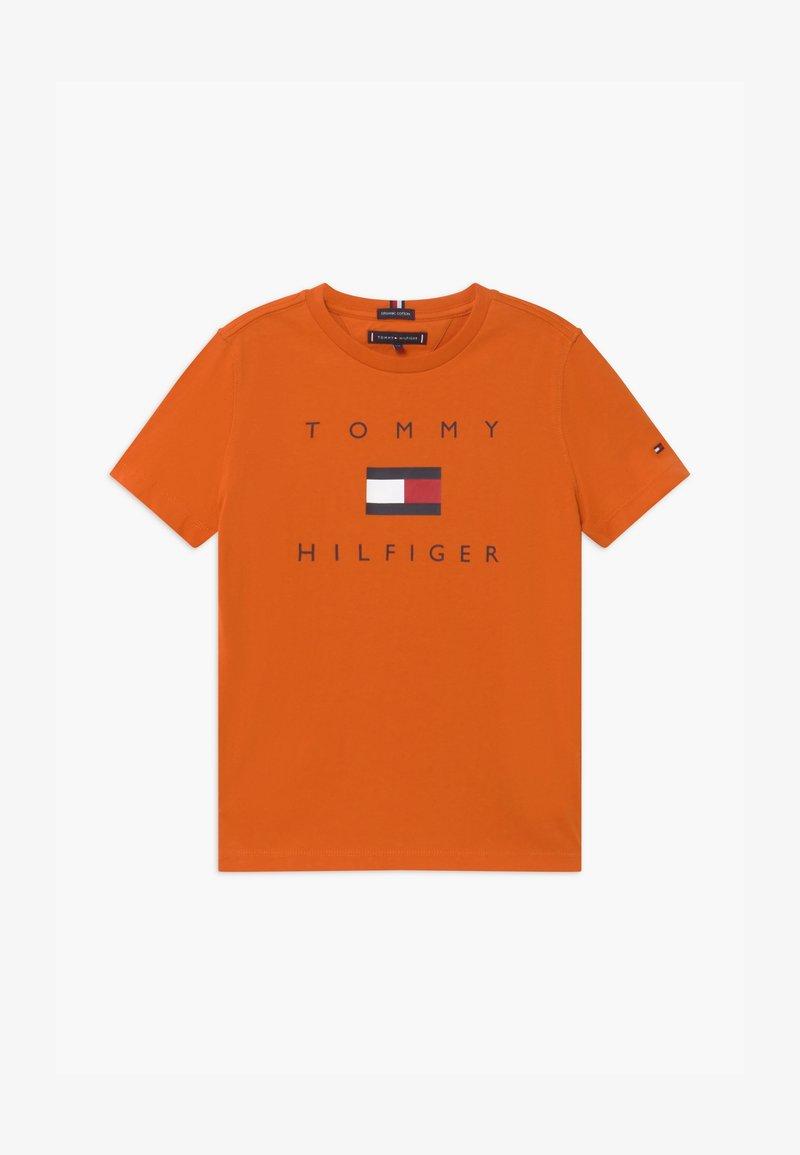 Tommy Hilfiger - LOGO TEE - Print T-shirt - orange