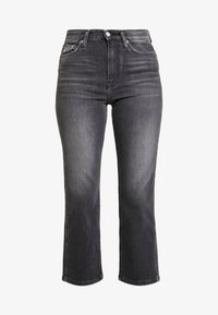 Calvin Klein Jeans - HIGH RISE STRAIGHT ANKLE - Straight leg jeans - black - 4