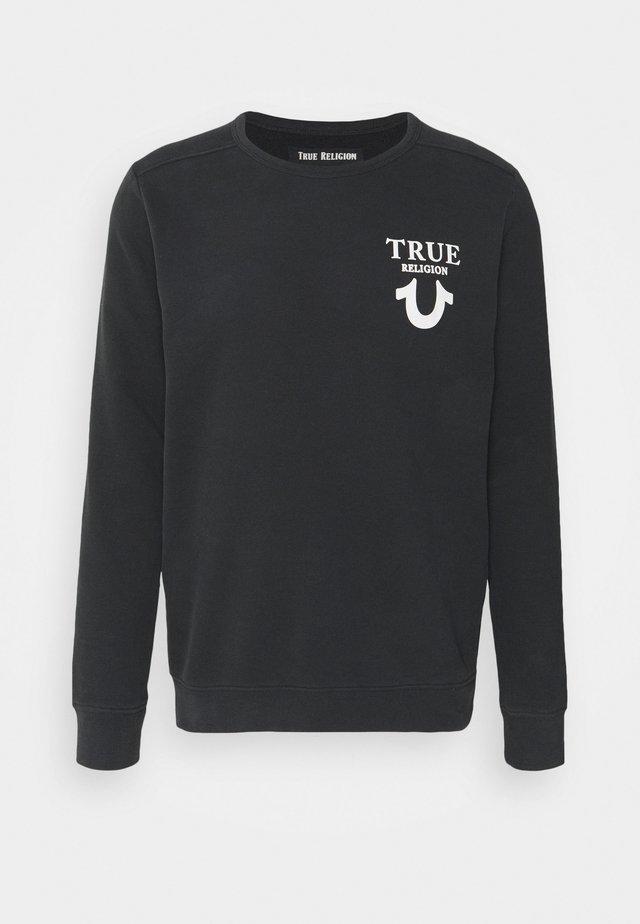 CREW NECK HORSESHOE - Sweatshirt - black