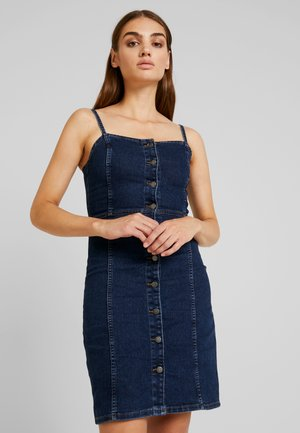 JDYSANNA STRAP DRESS - Denimové šaty - dark blue denim