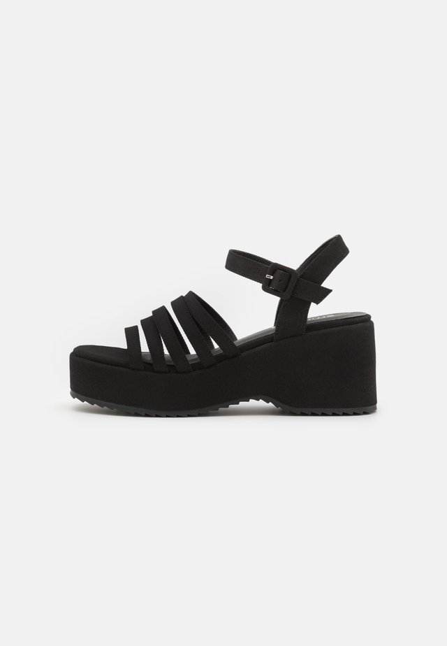 JEAN - Korkeakorkoiset sandaalit - black