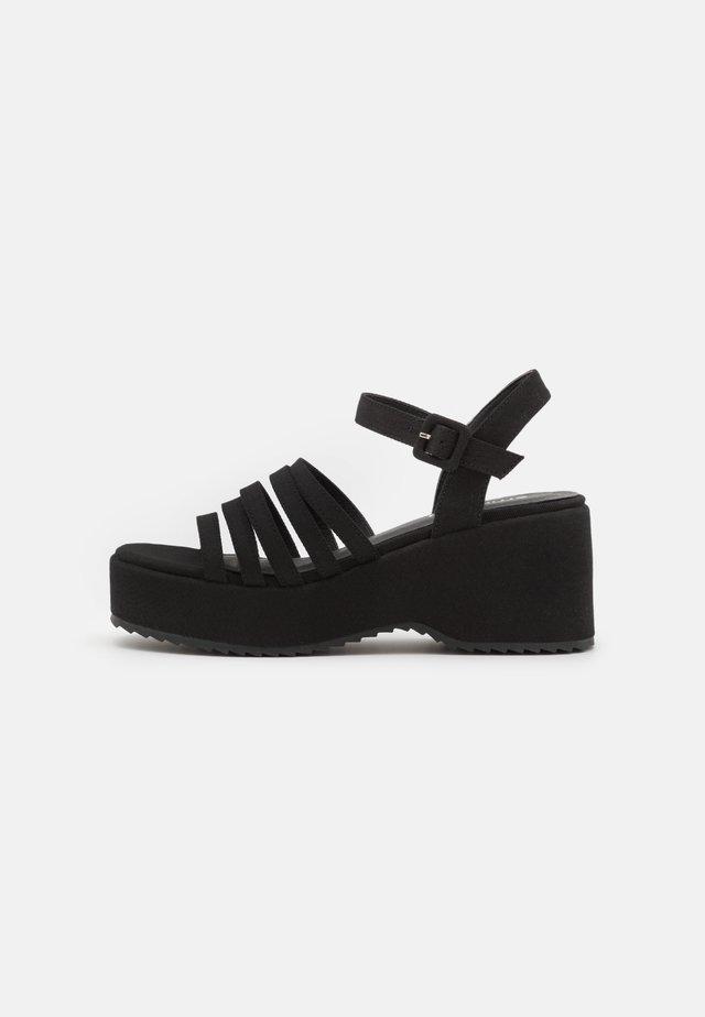 JEAN - Sandalen met plateauzool - black