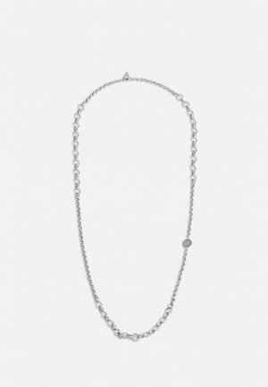 CIRCLE CHAIN COIN LOGO - Collier - silver-coloured