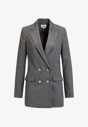 DAMES LOOSE FIT DOUBLE BREASTED BLAZER - Short coat - dark grey