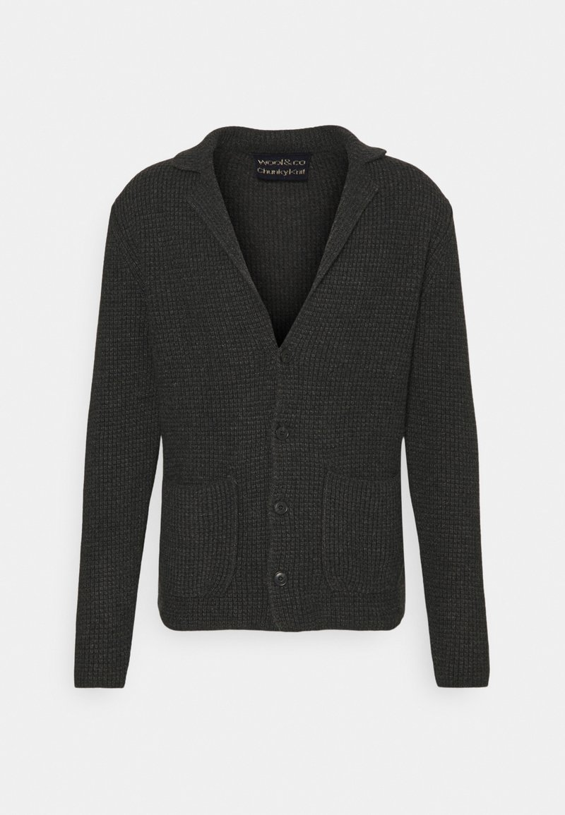 Wool & Co - GIACCA COSTA INGLESE - Cardigan - anthracite