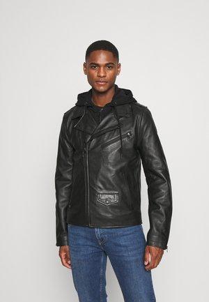 PERF - Leather jacket - black
