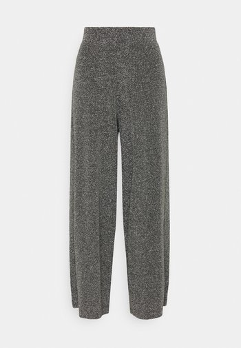 CILLA PARTY TROUSERS - Broek - black/silver