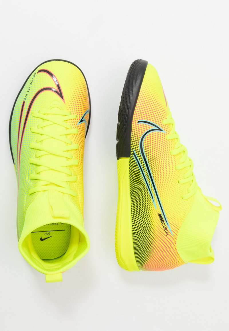 Nike Performance - MERCURIAL 7 ACADEMY MDS IC UNISEX - Indoor football boots - lemon/black/aurora green