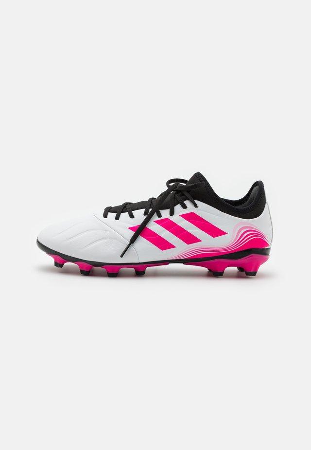 COPA SENSE.3 MG - Fodboldstøvler m/ faste knobber - footwear white/core black/shock pink