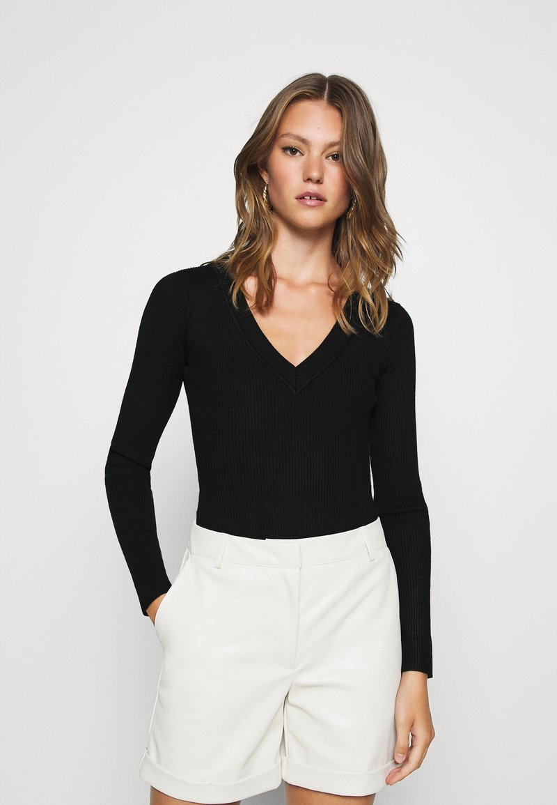 Missguided - NECK BODY - Pullover - black