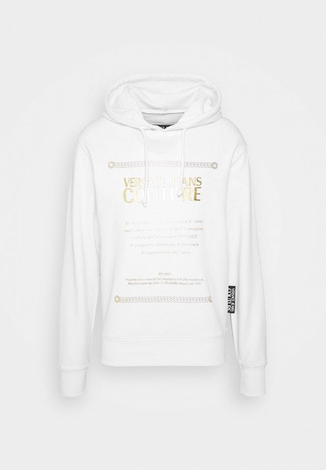 FELPA - Felpa con cappuccio - white