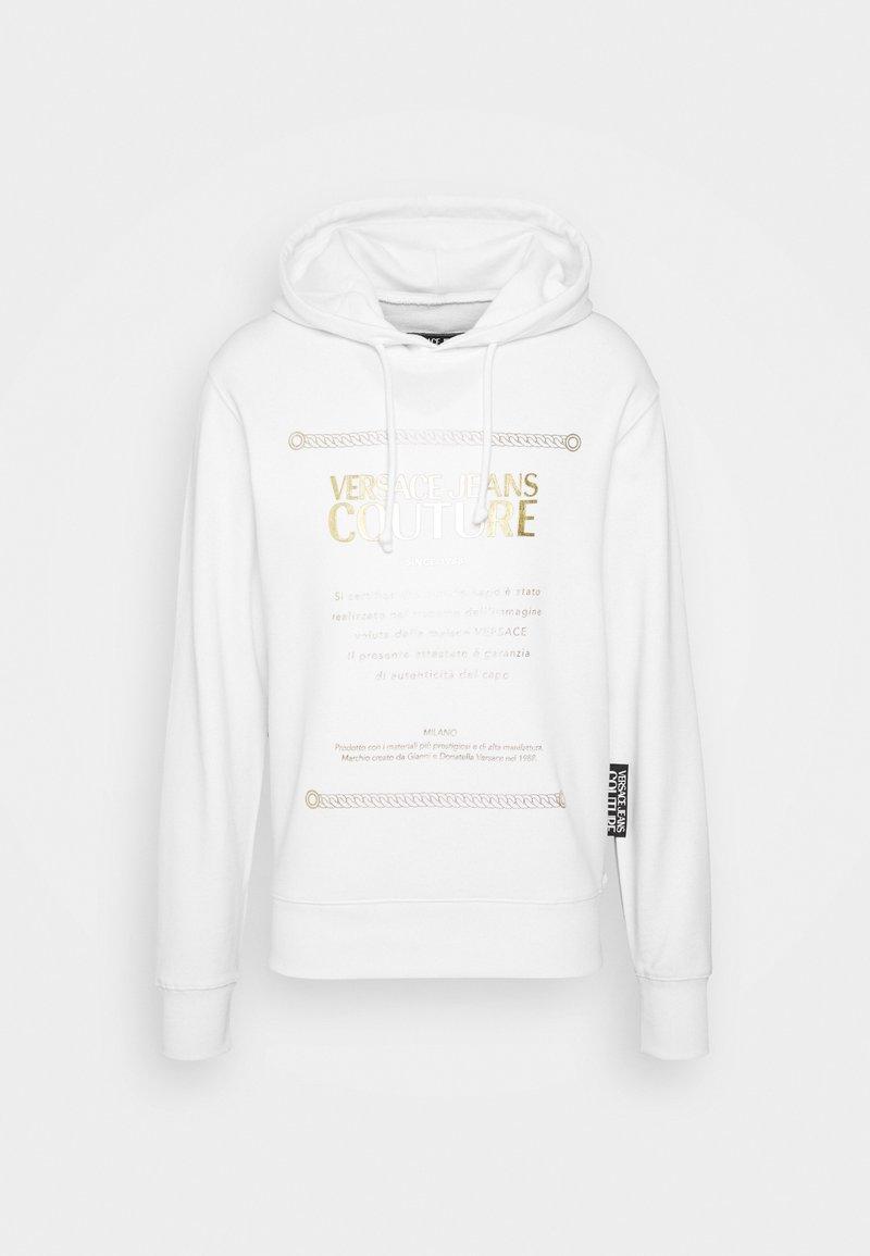 Versace Jeans Couture - FELPA - Felpa con cappuccio - white