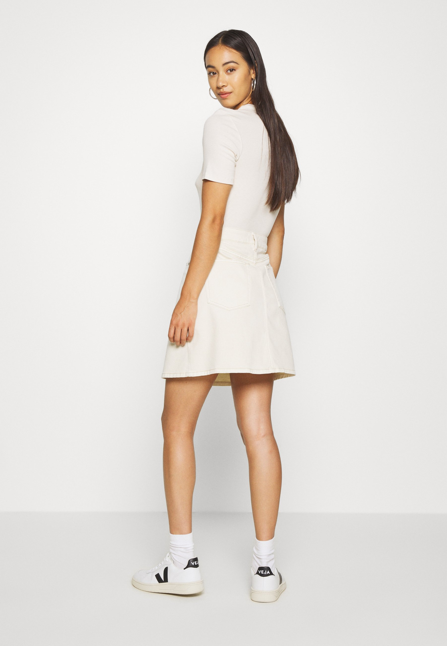 Purchase Cheap Women's Clothing Ivy Copenhagen ANGIE SKIRT WASH Mini skirt ecru 1HbBoH9mf