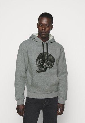 Kapuzenpullover - middle grey melange