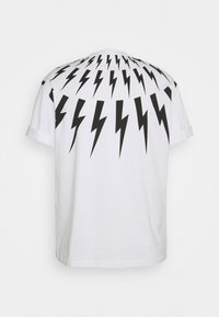 Neil Barrett - FAIRISLE THUNDERBOLT - T-shirt imprimé - white/black - 8
