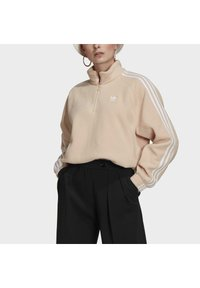 adidas Originals - FLEECE HZ - Sweat polaire - halo blush/white - 3