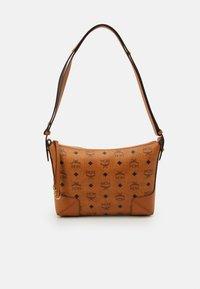 MCM - KLARA SHOULDER BAG IN VISETOS - Handbag - cognac - 0