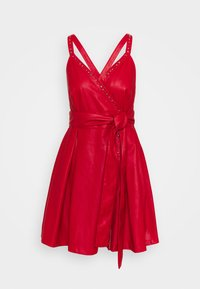 Pinko - CREATIVO ABITO SIMILPELLE - Day dress - red - 5
